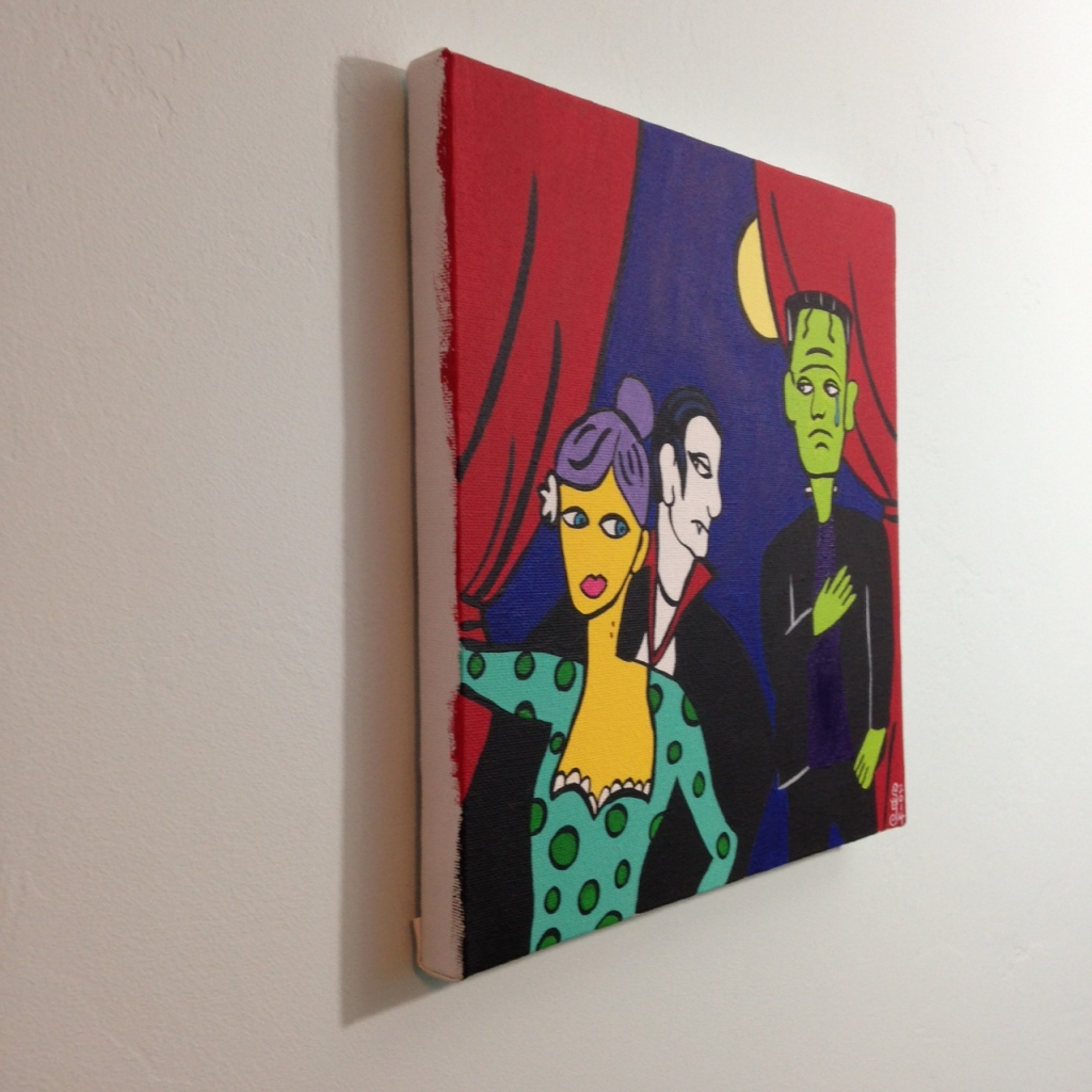 Side-View Monster Cabaret- Tribute to Jacques Pellegrin Linda Cleary 2014 Acrylic on Canvas