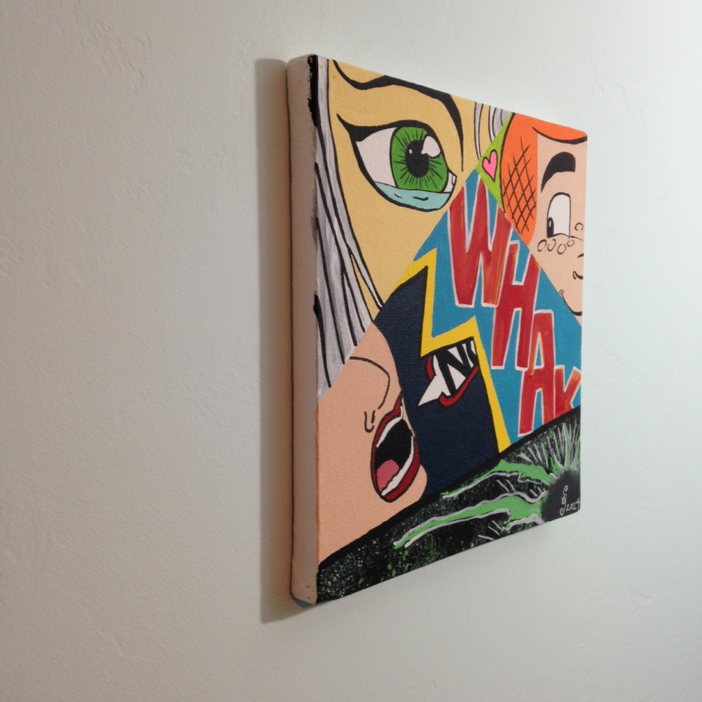 Side-View WHAK- Tribute to CRASH Linda Cleary 2014 Acrylic on Canvas
