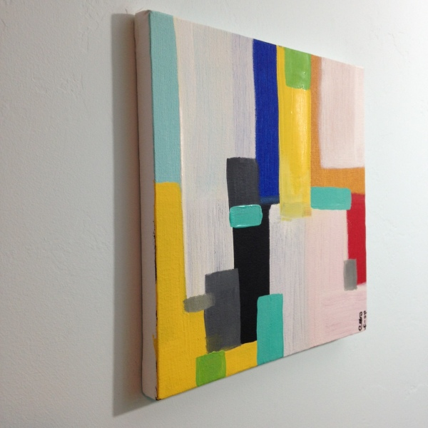 Side-View Untitled 235- Tribute to Giorgio Cavallon Linda Cleary 2014 Acrylic on Canvas