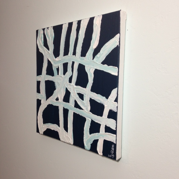 Side-View Mourning and Melancholia- Tribute to John Zinsser Linda Cleary 2014 Acrylic on Canvas