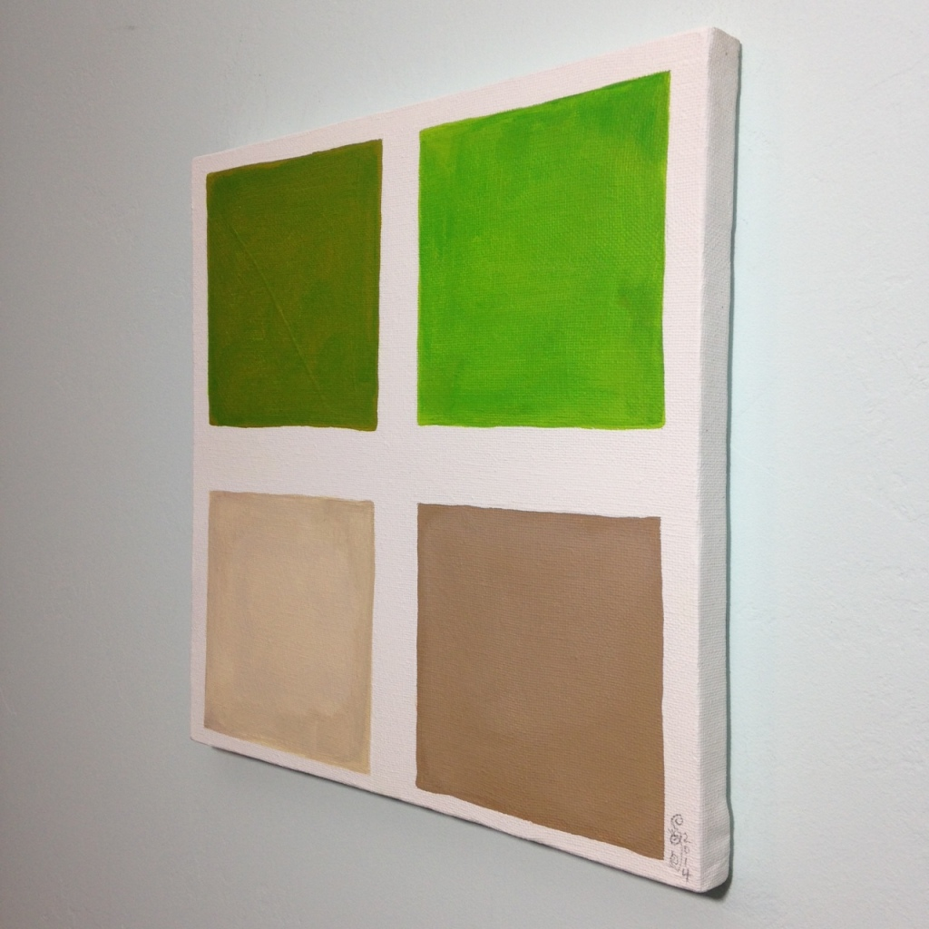Side-View Vert Brun- Tribute to Anne Appleby Linda Cleary 2014 Acrylic on Canvas