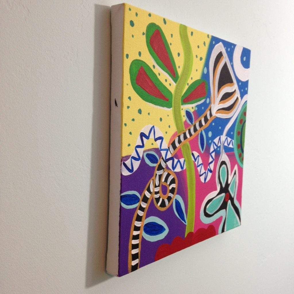 Side-View Twilight in Spring- Tribute to Gillian Ayres Linda Cleary 2014 Acrylic on Canvas