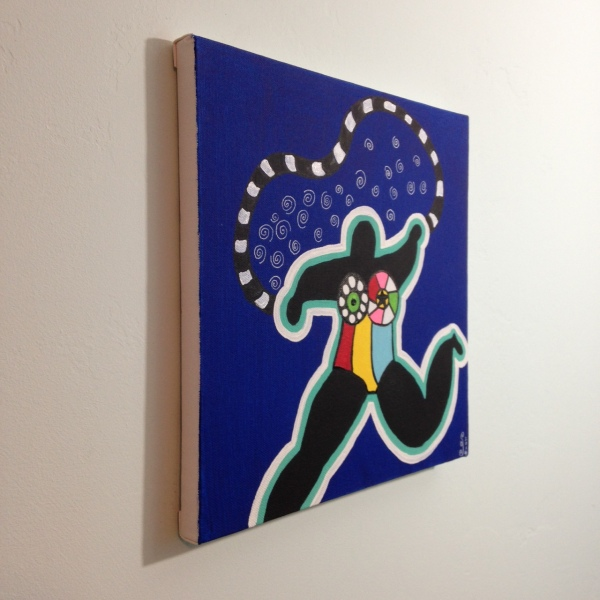Side-View My Nana- Tribute to Niki De Saint Phalle Linda Cleary 2014 Acrylic on Canvas