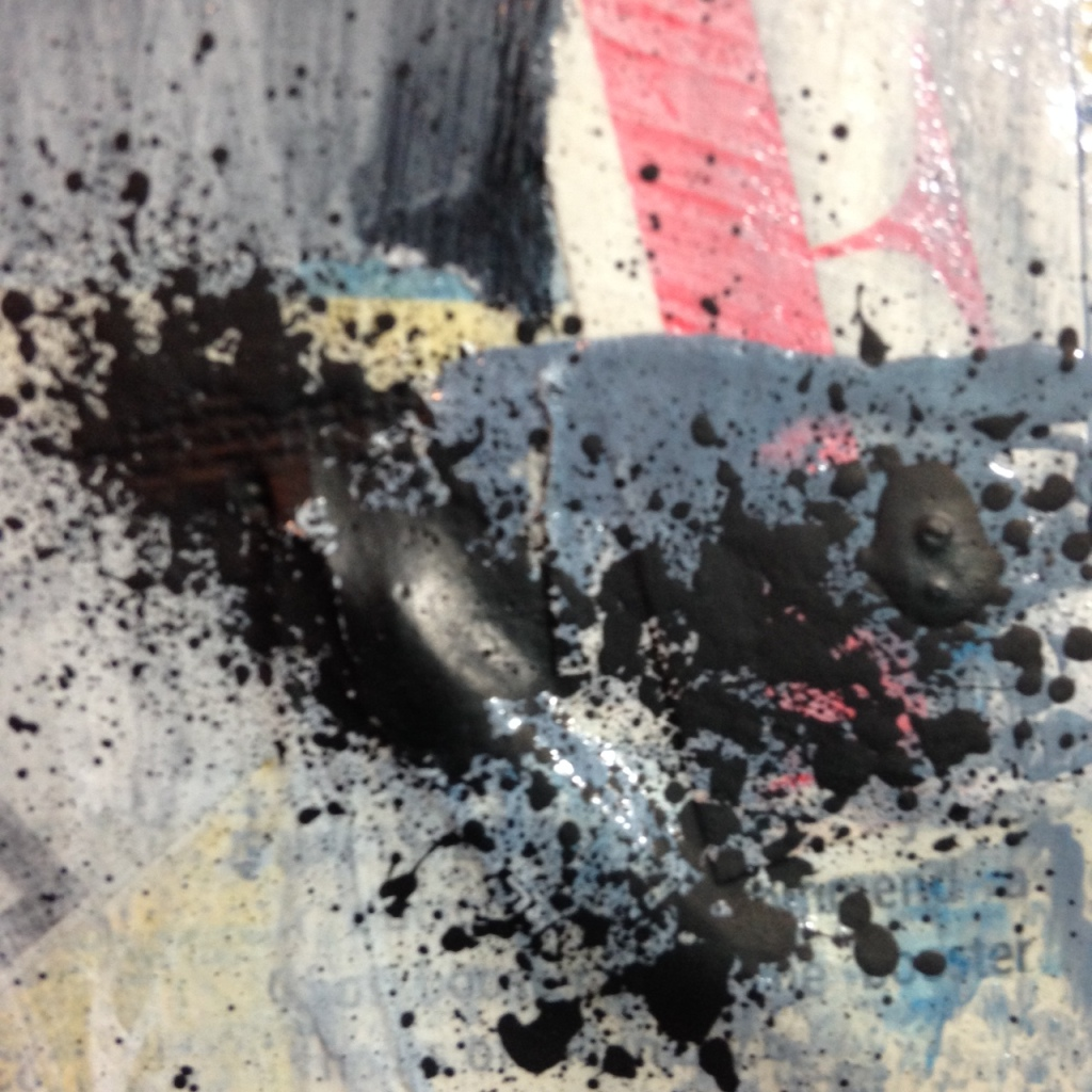 Close-Up 1 Subliminal- Tribute to Francois Dufrene Linda Cleary 2014 Mixed Media on Canvas