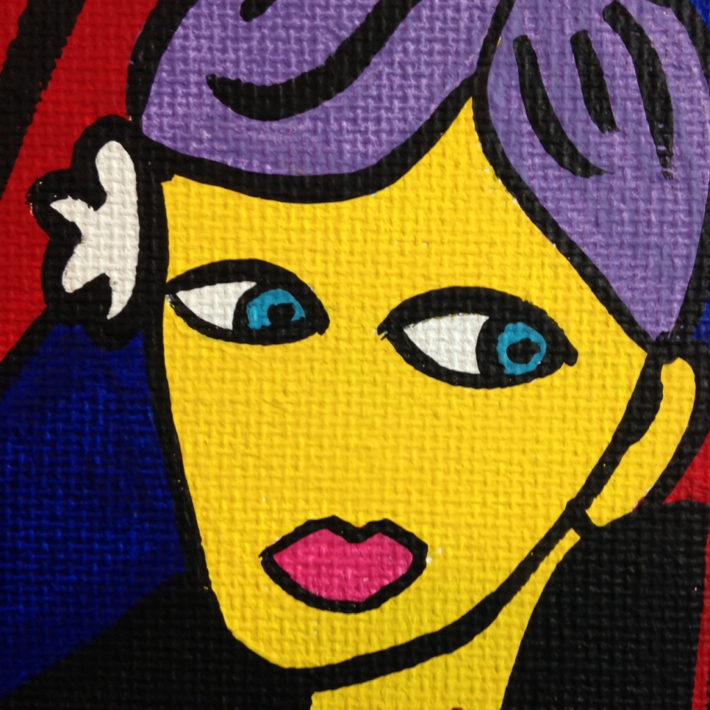 Close-Up 1 Monster Cabaret- Tribute to Jacques Pellegrin Linda Cleary 2014 Acrylic on Canvas