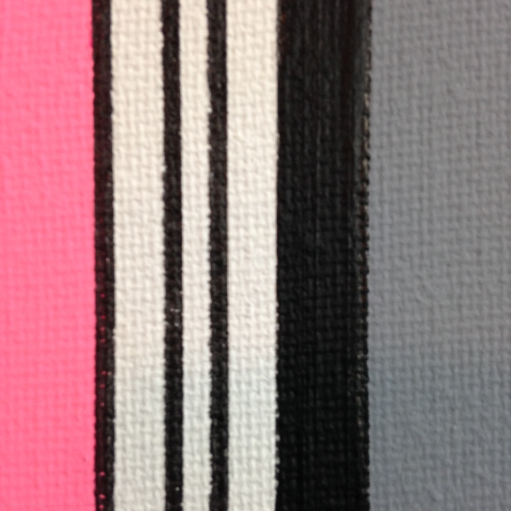 Close-Up 1 The Pink Door- Tribute to Gene Davis Linda Cleary 2014 Acrylic on Canvas