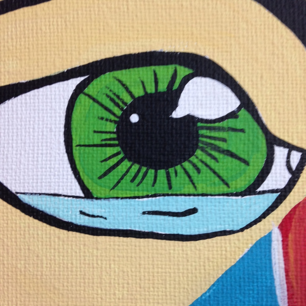 Close-Up 1 WHAK- Tribute to CRASH Linda Cleary 2014 Acrylic on Canvas