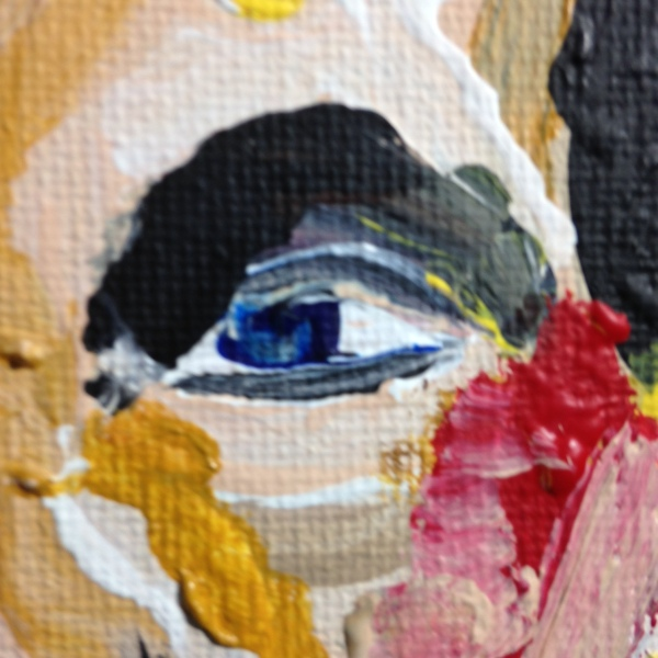 Close-Up 1 Nevermore- Tribute to Bobby Mathieson Linda Cleary 2014 Acrylic on Canvas