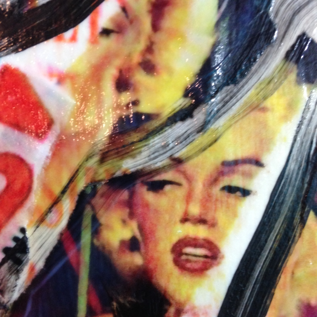Close-Up 1 Bella Stella- Tribute to Mimmo Rotella Linda Cleary 2014 Mixed Media on Canvas