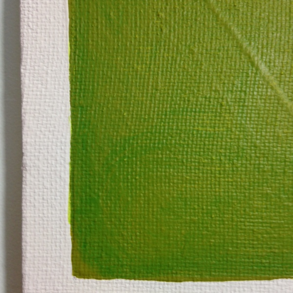 Close-Up 1 Vert Brun- Tribute to Anne Appleby Linda Cleary 2014 Acrylic on Canvas