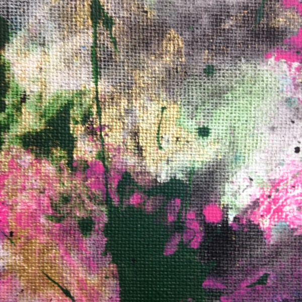Close-Up 2 Painted Towels- Tribute to Shozo Shimamoto Linda Cleary 2014 Acrylic on Canvas