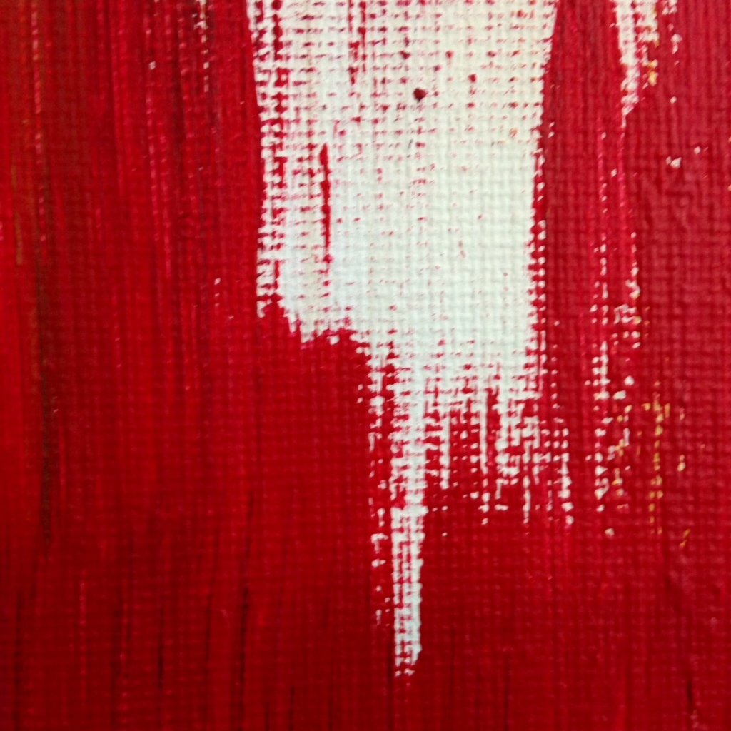 Close-Up 2 Untitled #227- Tribute to Edward Dugmore Linda Cleary 2014 Acrylic on Canvas