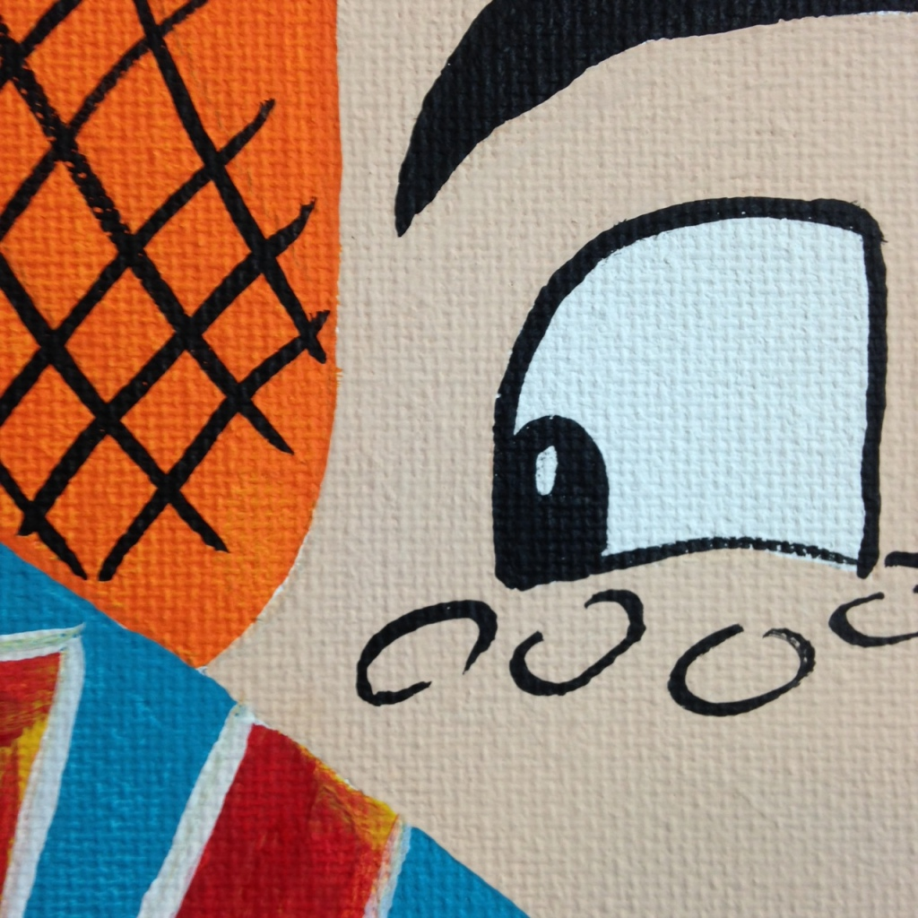 Close-Up 2 WHAK- Tribute to CRASH Linda Cleary 2014 Acrylic on Canvas