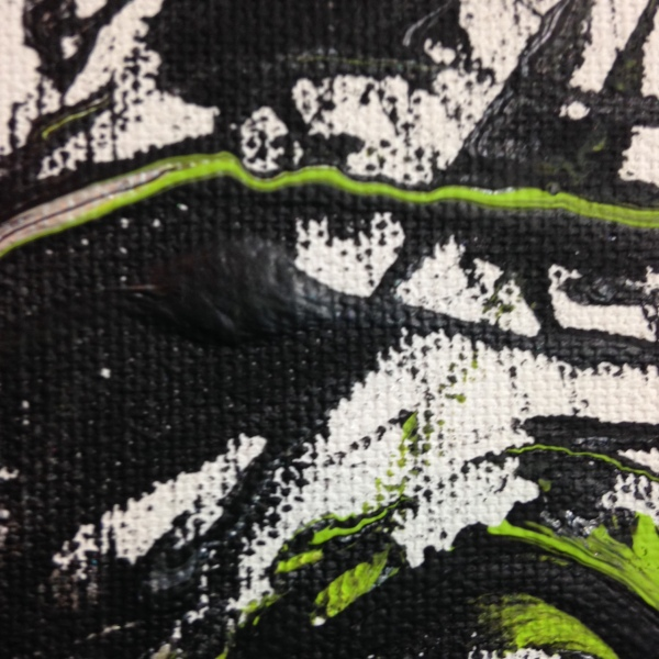 Close-Up 2 Ready, Set, Go- Tribute to Yasuo Sumi Linda Cleary 2014 Acrylic on Canvas