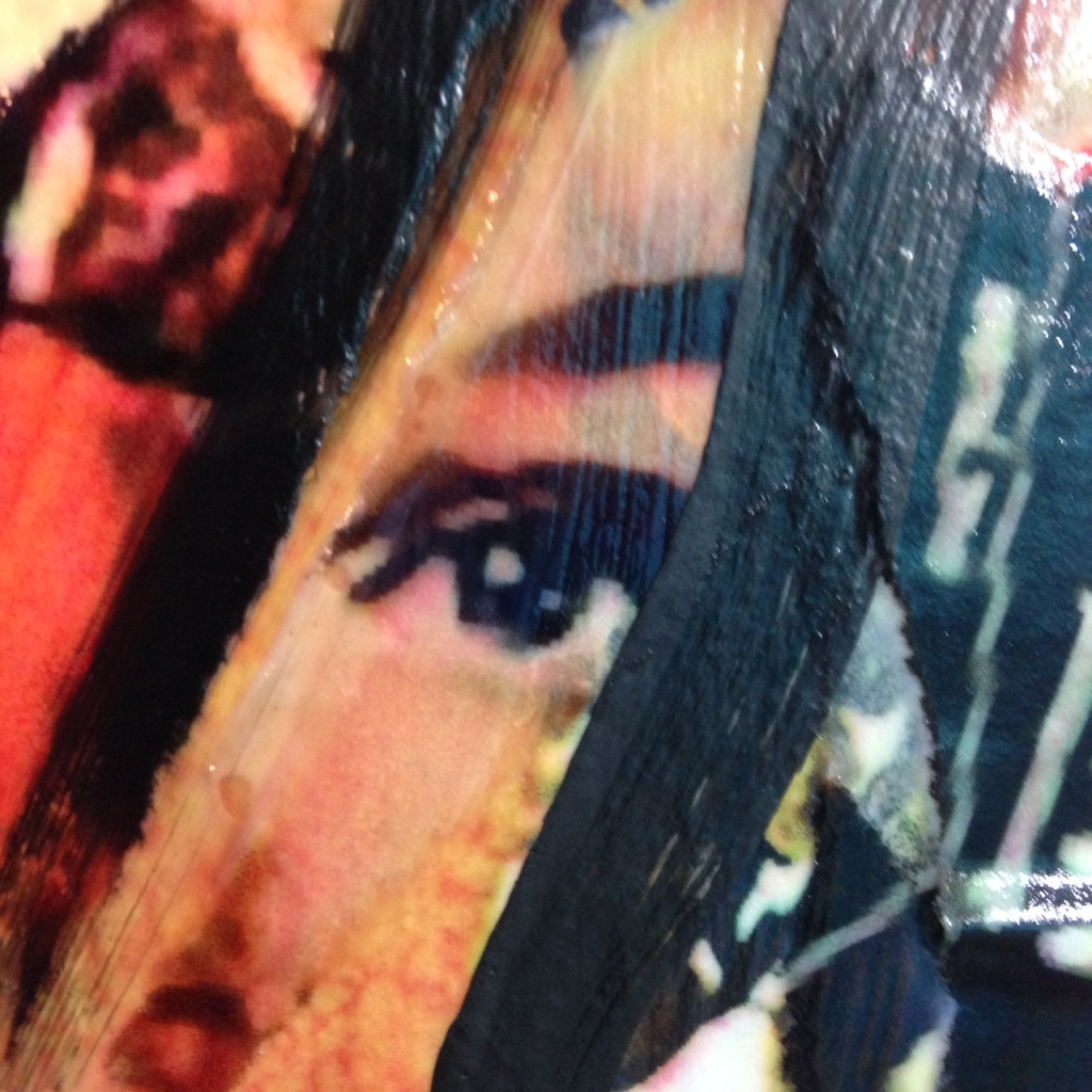 Close-Up 2 Bella Stella- Tribute to Mimmo Rotella Linda Cleary 2014 Mixed Media on Canvas