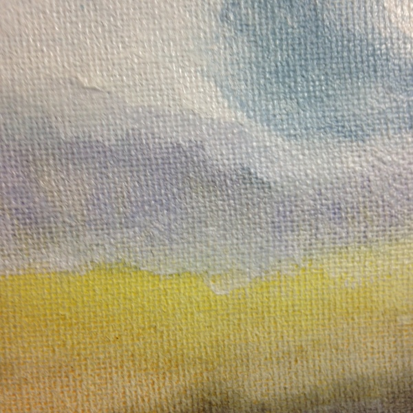 Close-Up 3 Sunset Sky- Tribute to Jon Schueler Linda Cleary 2014 Watercolor & Acrylic on Canvas
