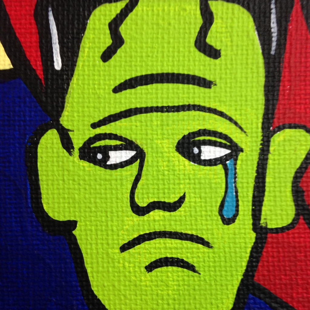 Close-Up 3 Monster Cabaret- Tribute to Jacques Pellegrin Linda Cleary 2014 Acrylic on Canvas