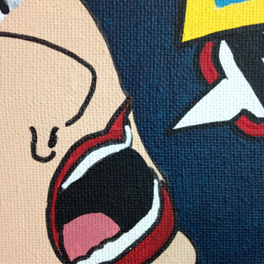Close-Up 3 WHAK- Tribute to CRASH Linda Cleary 2014 Acrylic on Canvas