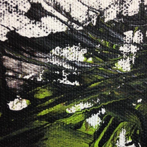 Close-Up 3 Ready, Set, Go- Tribute to Yasuo Sumi Linda Cleary 2014 Acrylic on Canvas