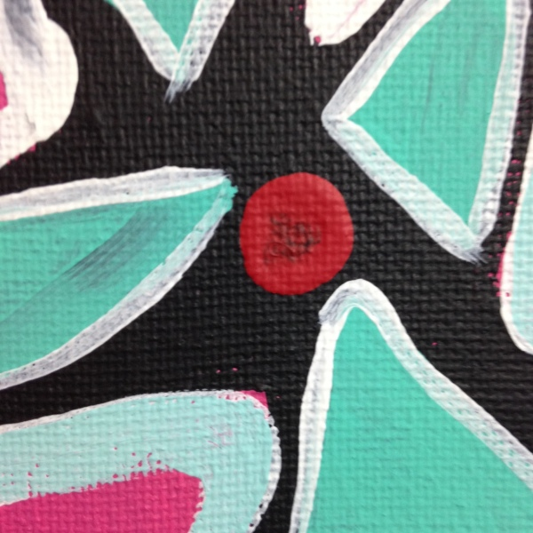 Close-Up 3 Twilight in Spring- Tribute to Gillian Ayres Linda Cleary 2014 Acrylic on Canvas