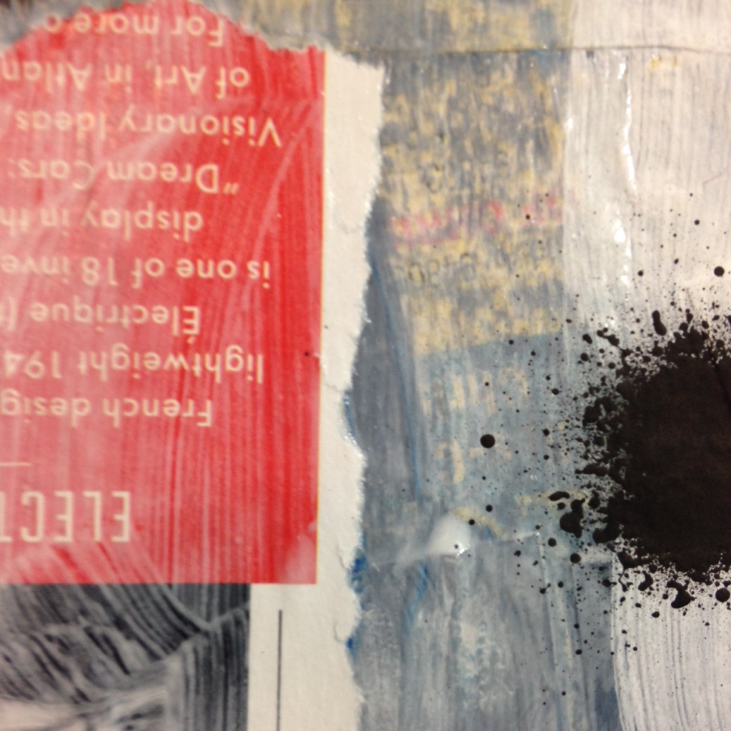 Close-Up 3 Subliminal- Tribute to Francois Dufrene Linda Cleary 2014 Mixed Media on Canvas