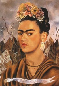 Self Portrait Dedicated to Dr. Eloesser- Frida Kahlo