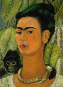 Self-Portrait with a Monkey- Frida Kahlo