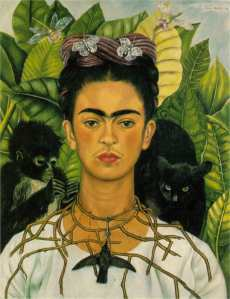 Self Portrait with Necklace of Thorns- Frida Kahlo