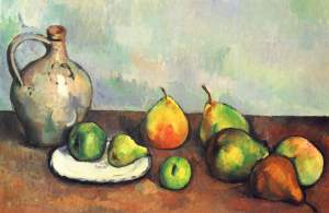 Still Life Pitcher and Fruit 1894- Paul Cezanne