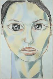 Francesco Clemente Virgine, 1995. Pastel on paper