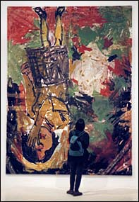 Georg Baselitz's Elke 1965 - You can see here how big this painting is!