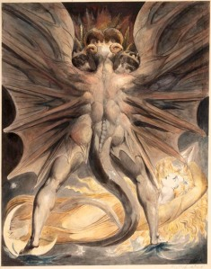 The Great Red Dragon and the Woman Clothed with the Sun- William Blake