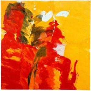 The dog Kopejkin (Gogol), 2000, oil on canvas, 200x200 cm- Josef Mikl