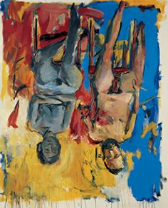 Schlafzimmer – (Chambre à coucher)– huile sur toile - 1975