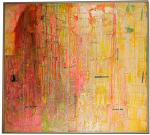For rose - Frank Bowling