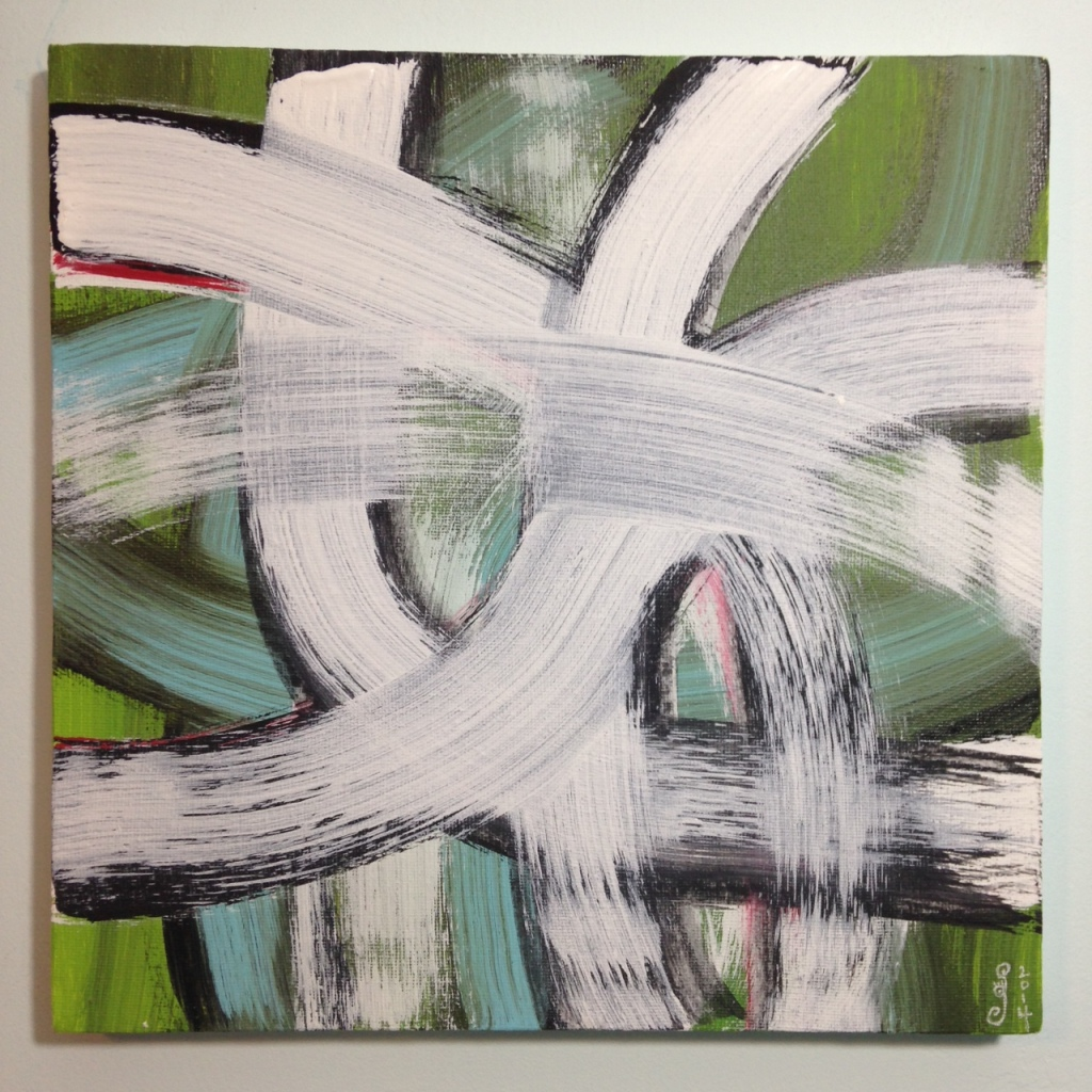 #257- Tribute to Hertha Hanson Linda Cleary 2014 Acrylic on Canvas