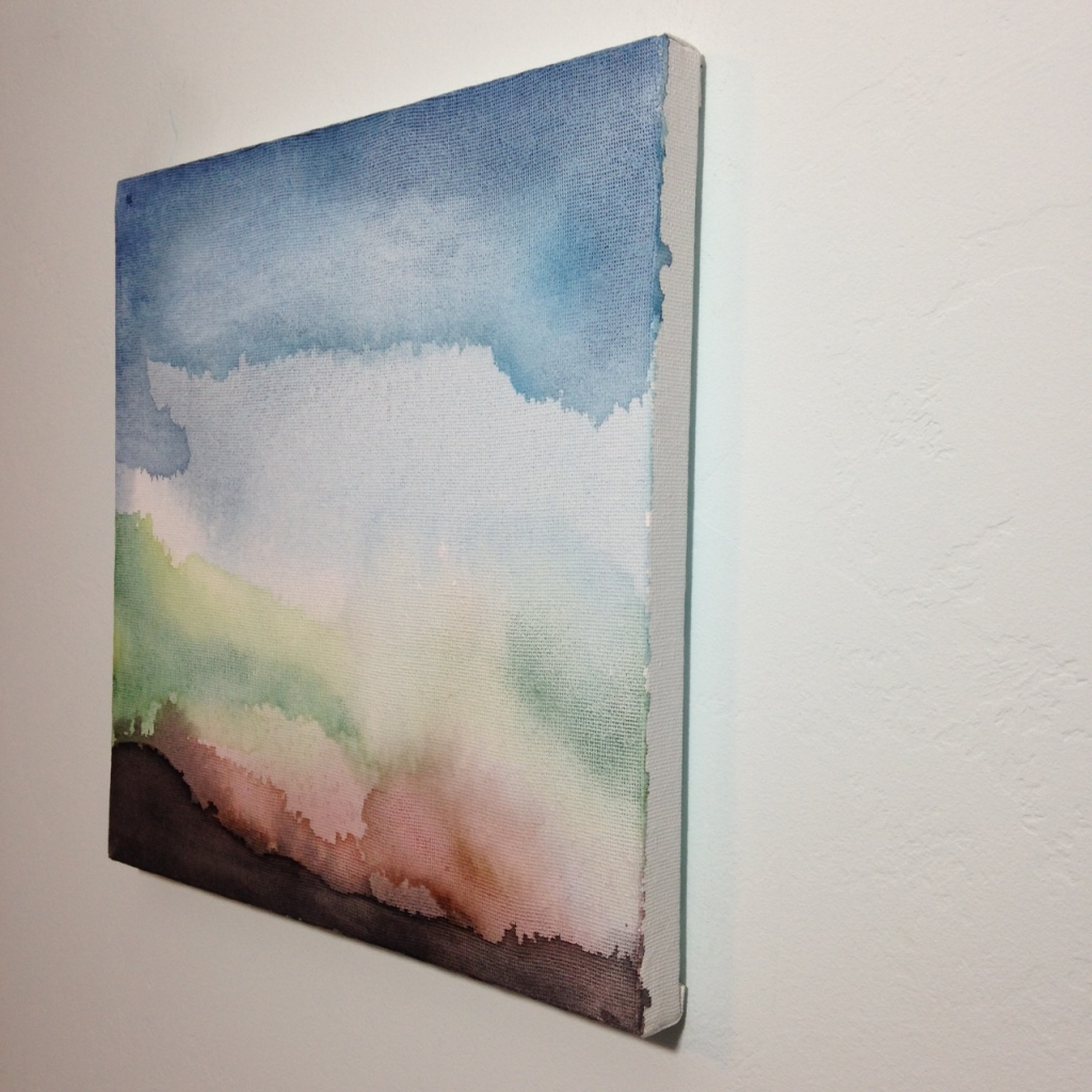 Side-View Dark Horizon- Tribute to William Tillyer Linda Cleary 2014 Watercolor on Canvas