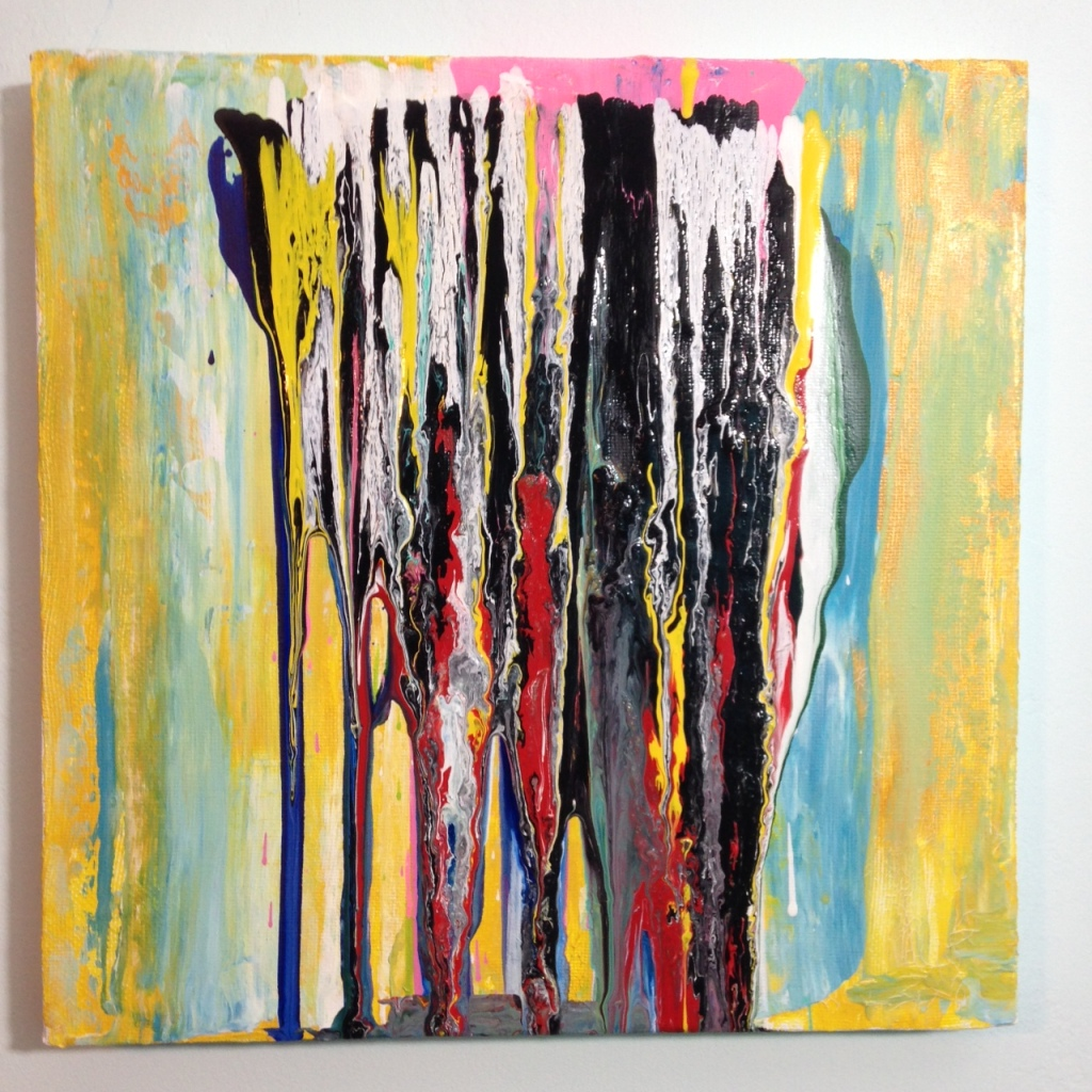 Standing Up- Tribute to Frank Bowling Linda Cleary 2014 Acrylic on Canvas