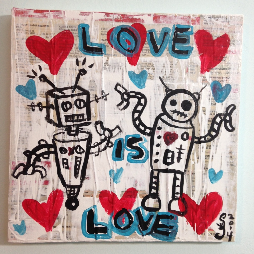 Love is Love- Tribute to Gary John Linda Cleary 2014 Mixed-Media on Canvas