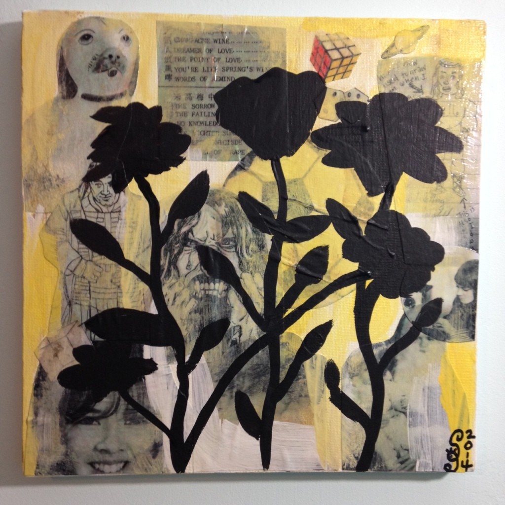 Childhood- Tribute to Donald Baechler Linda Cleary 2014 Mixed Media on Canvas