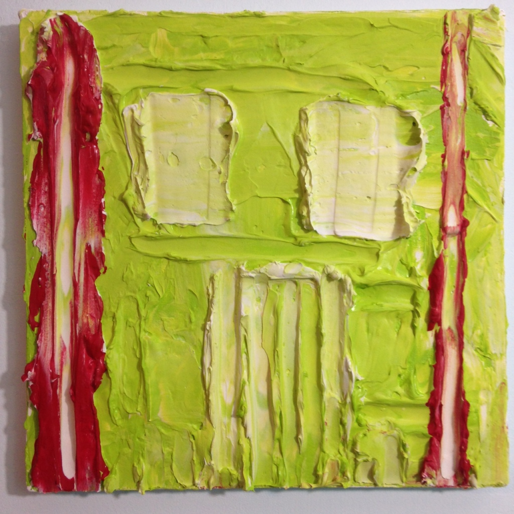 Green & Red- Tribute to Bram Bogart Linda Cleary 2014 Mixed Media on Canvas