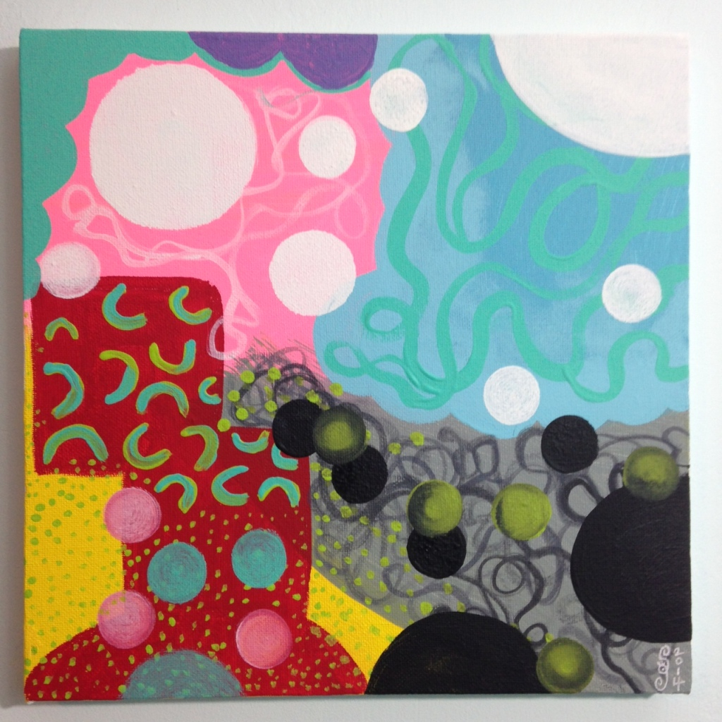 Colors Make Me Happy- Tribute to Hense Linda Cleary 2014 Acrylic on Canvas