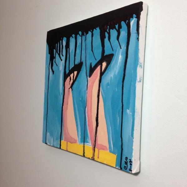 Side-View Verkehrt Herum- Tribute to Georg Baselitz Linda Cleary 2014 Acrylic on Canvas