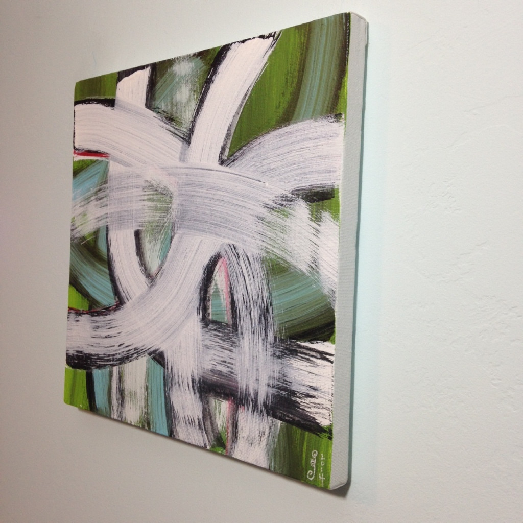 Side-View #257- Tribute to Hertha Hanson Linda Cleary 2014 Acrylic on Canvas