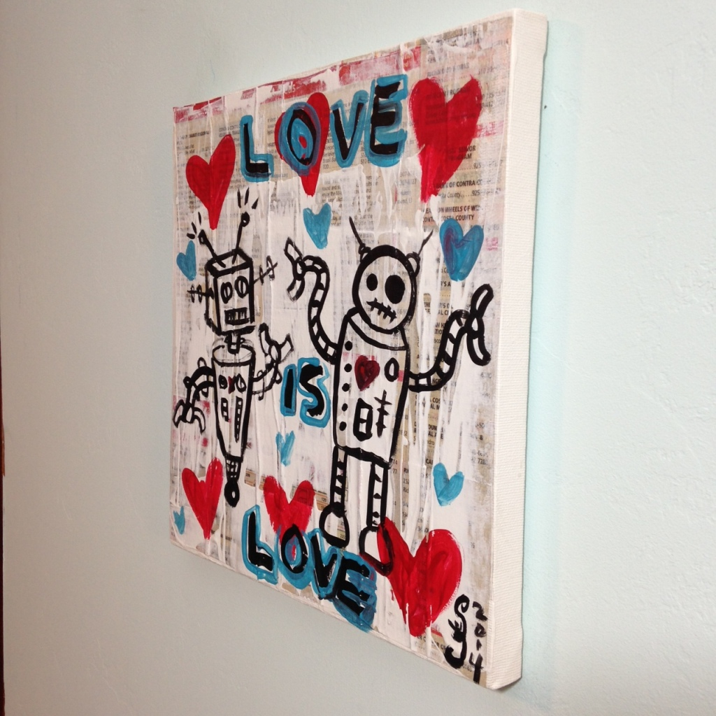 Side-View Love is Love- Tribute to Gary John Linda Cleary 2014 Mixed-Media on Canvas