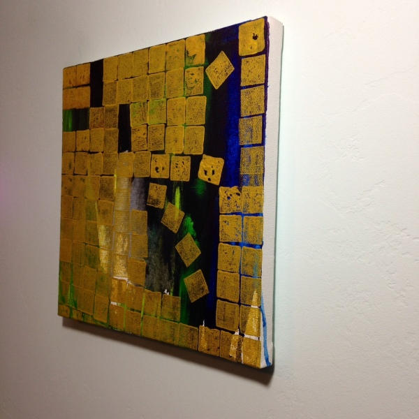 Side-View Golden Skies- Tribute to Makoto Fujimura Linda Cleary Acrylic on Canvas