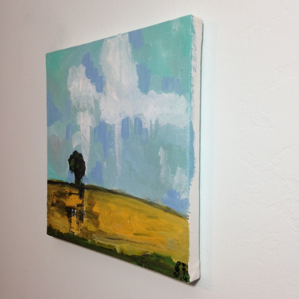 Side-View Lonely Tree- Tribute to Pamela Munger Linda Cleary 2014 Acrylic on Canvas