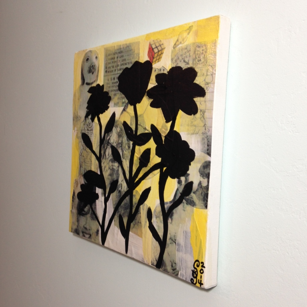 Side-View Childhood- Tribute to Donald Baechler Linda Cleary 2014 Mixed Media on Canvas
