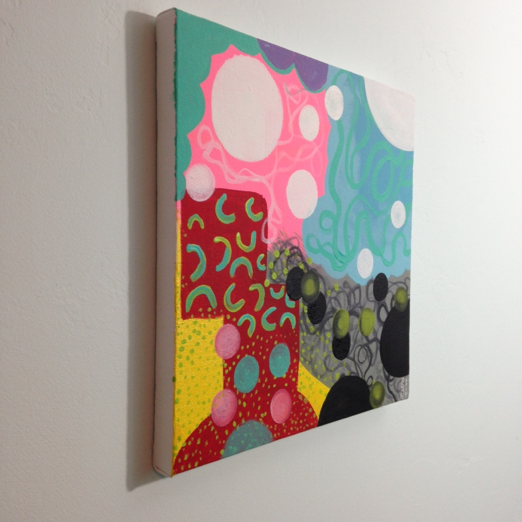 Side-View Colors Make Me Happy- Tribute to Hense Linda Cleary 2014 Acrylic on Canvas