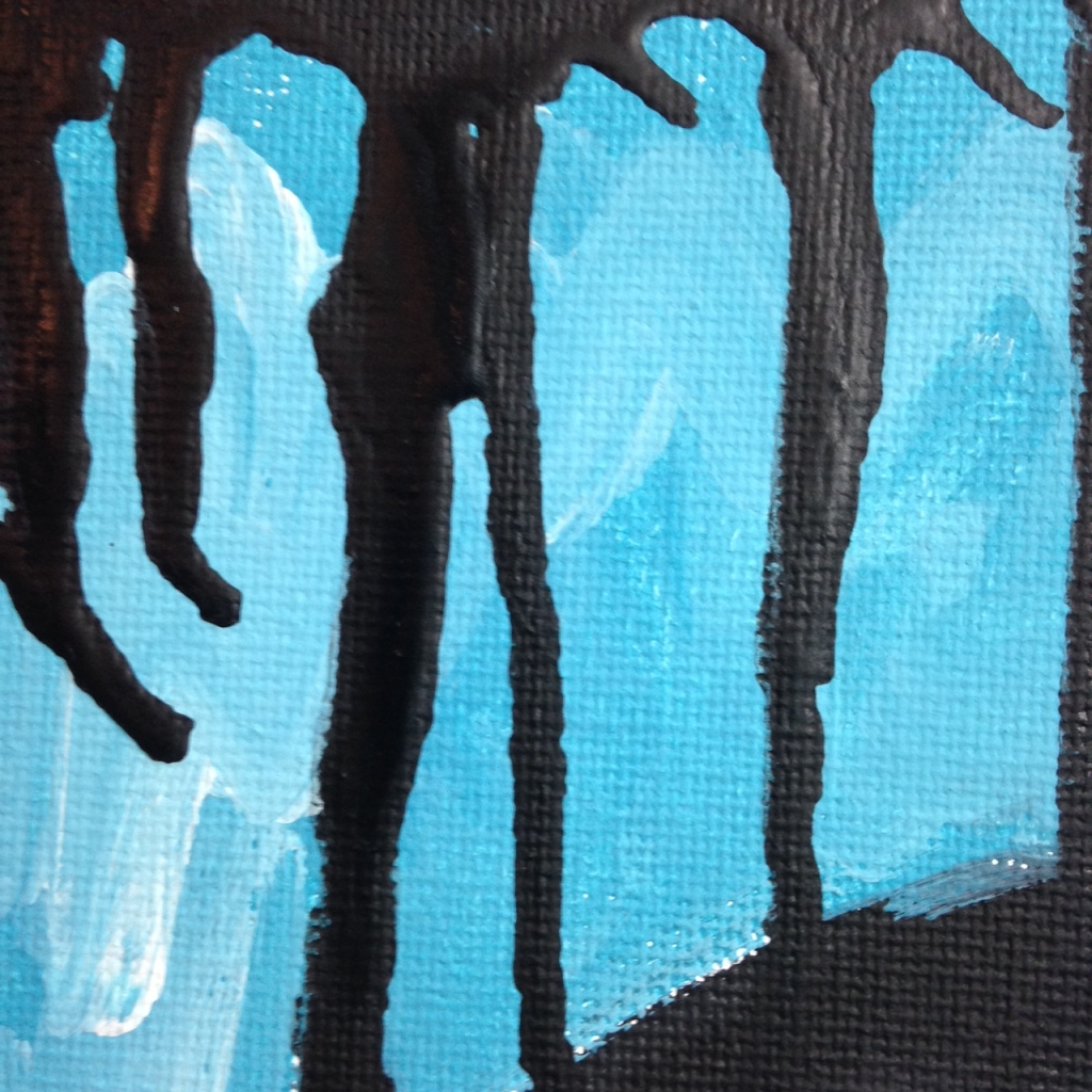 Close-Up 1 Verkehrt Herum- Tribute to Georg Baselitz Linda Cleary 2014 Acrylic on Canvas